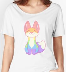 Gay Pride Fox Women's Relaxed Fit T-Shirt