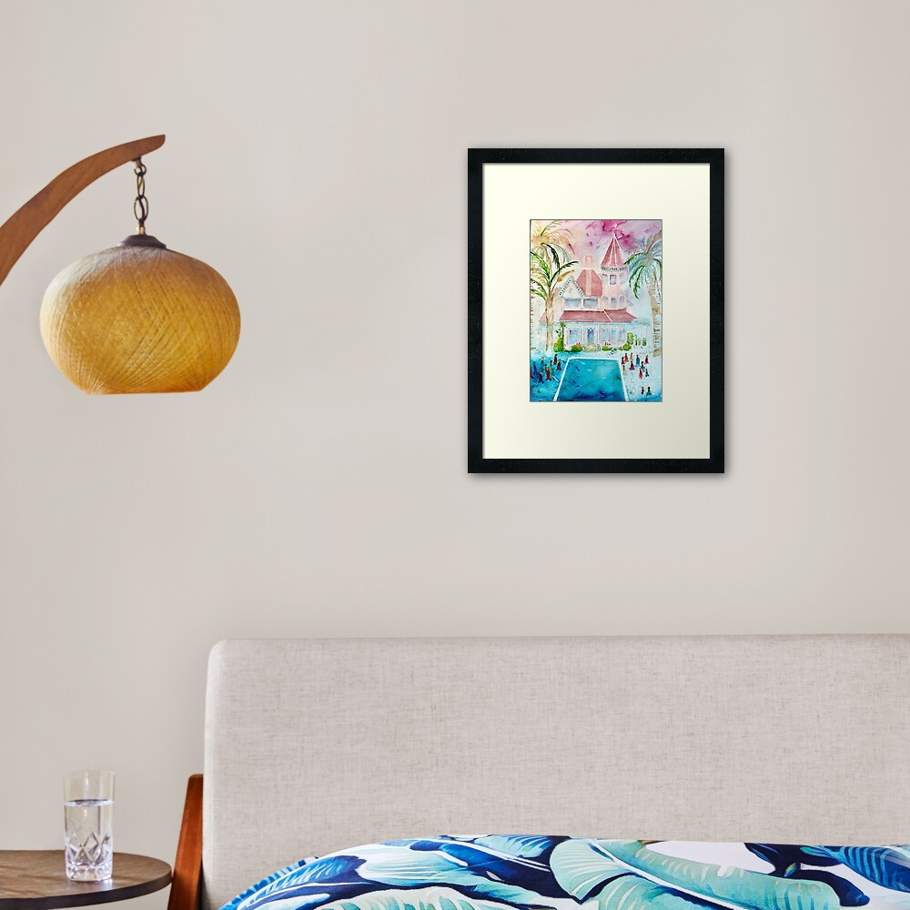 Southernmost House Key West Watercolor Framed Art Print