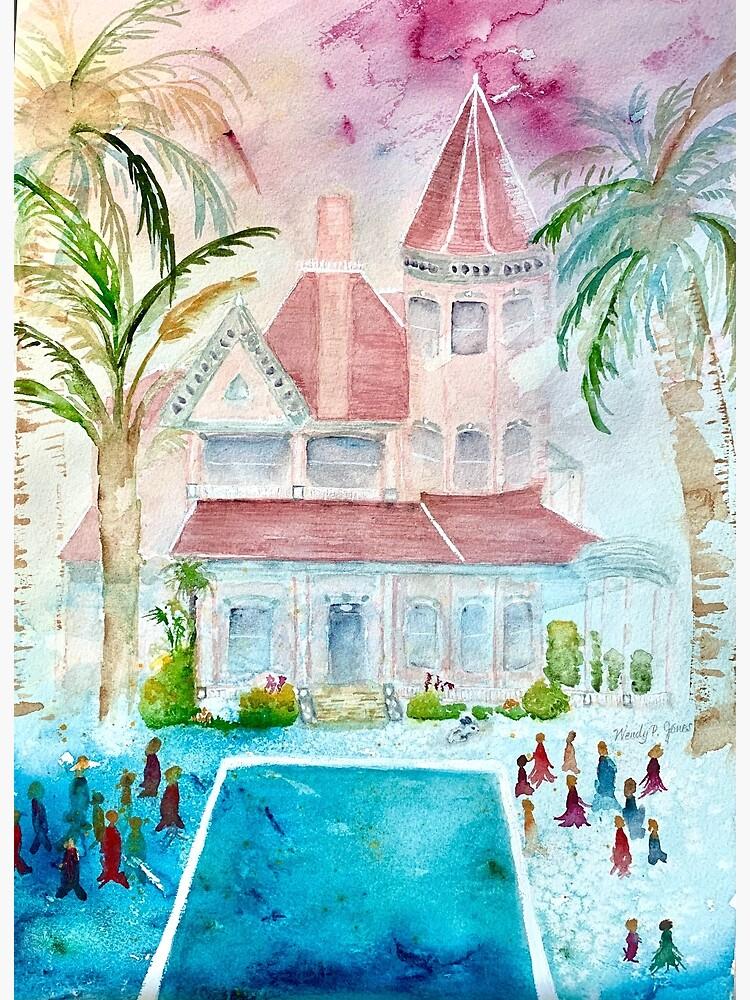 Southernmost House Key West Watercolor by WendysArtStudio