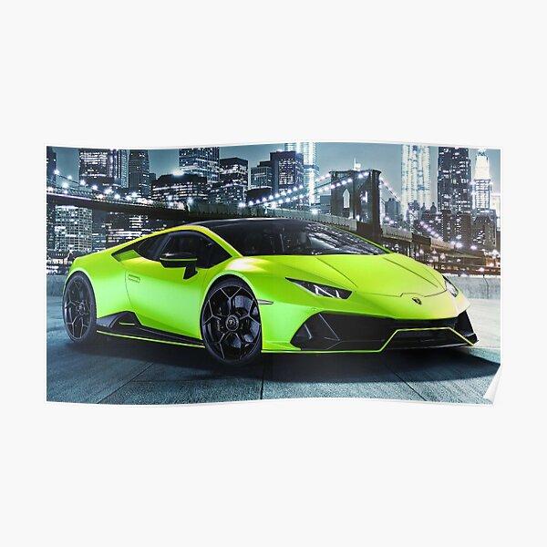 2021 Lamborghini Huracan EVO Fluo Capsule Poster