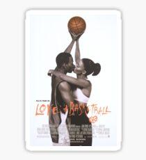 LOVE & BASKETBALL MOVIE POSTER Sticker