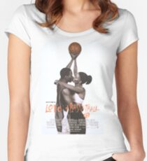 LOVE & BASKETBALL MOVIE POSTER Women's Fitted Scoop T-Shirt