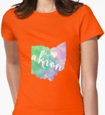 Akron Womens Fitted T-Shirt