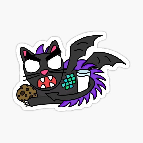 angry zombie dragon cat Sticker
