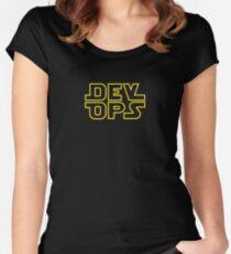 DevOps - Star Wars style Women's Fitted Scoop T-Shirt