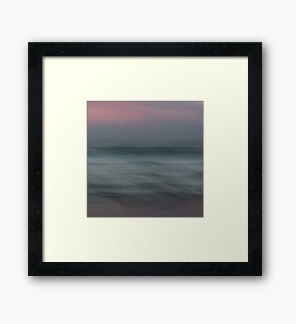 The Sea, the sea Framed Print