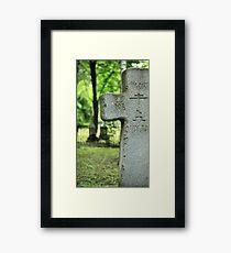 cross gravestone Framed Print