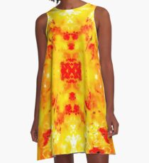 Hibiscus Impressionist Series A-Line Dress