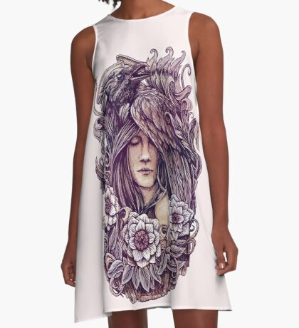 Crow A-Line Dress