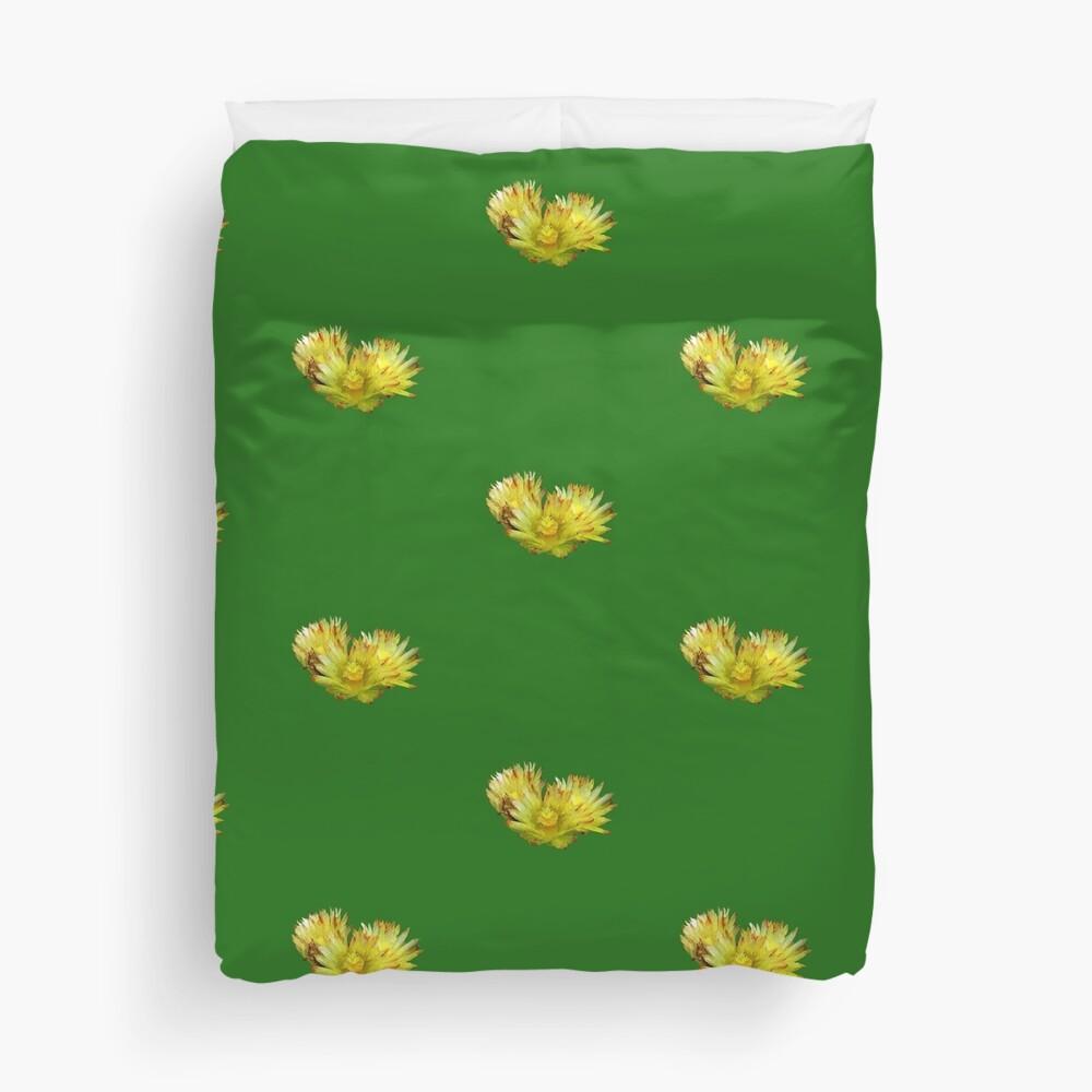 Golden Barrel Cactus Flower Duvet Cover