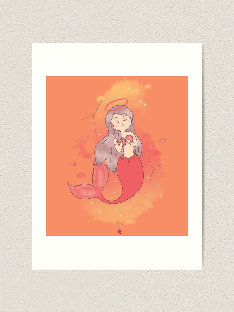 Alternate view of Cancer Mermaid Art Print