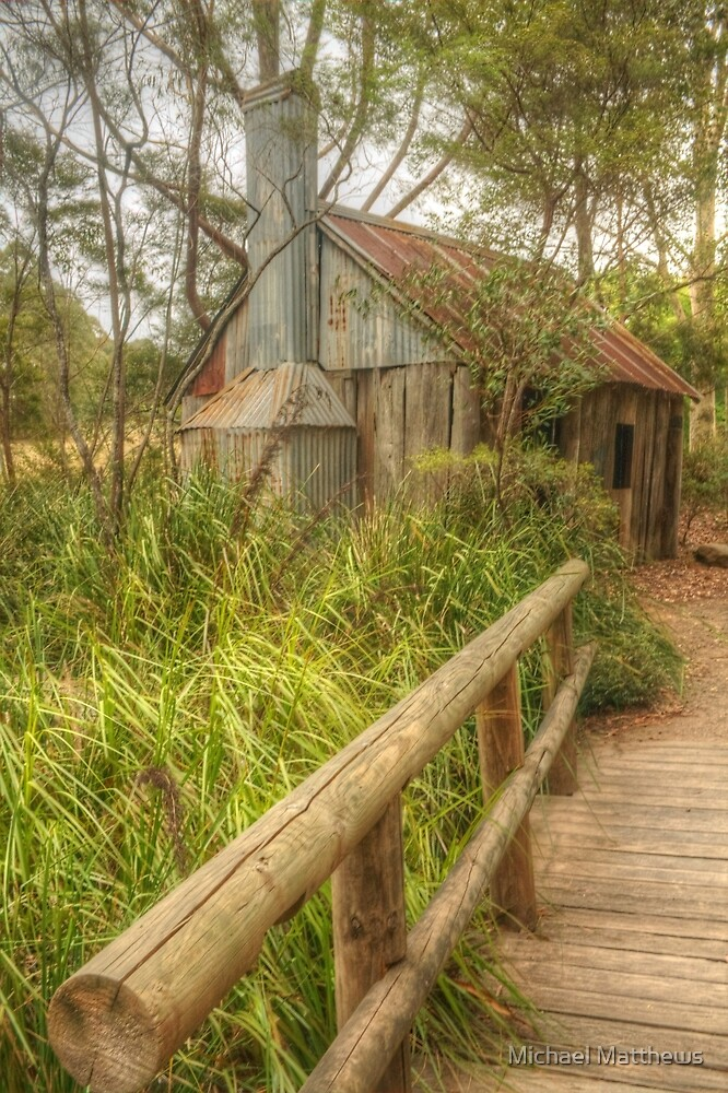 Rusty shed in the park by Michael Matthews