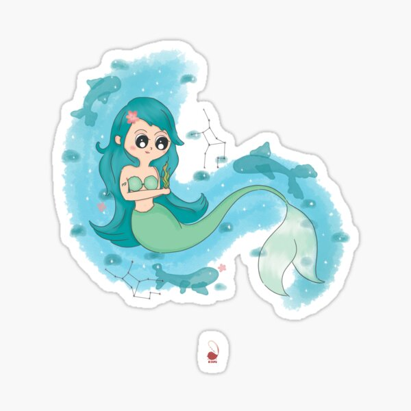 Virgo Mermaid Sticker