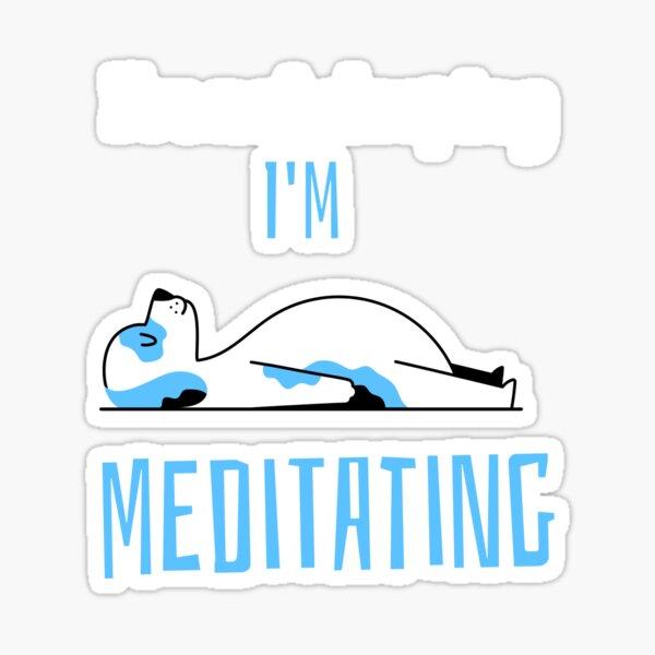 Meditating dog Sticker