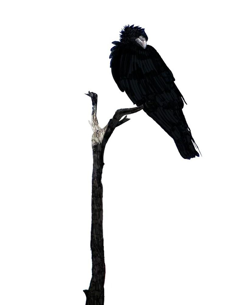 Punk Rock Raven by QWERTYvsDVORAK