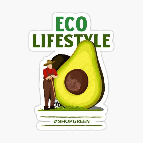 Öko-Lifestyle-Shop grün - Öko einkaufen Sticker