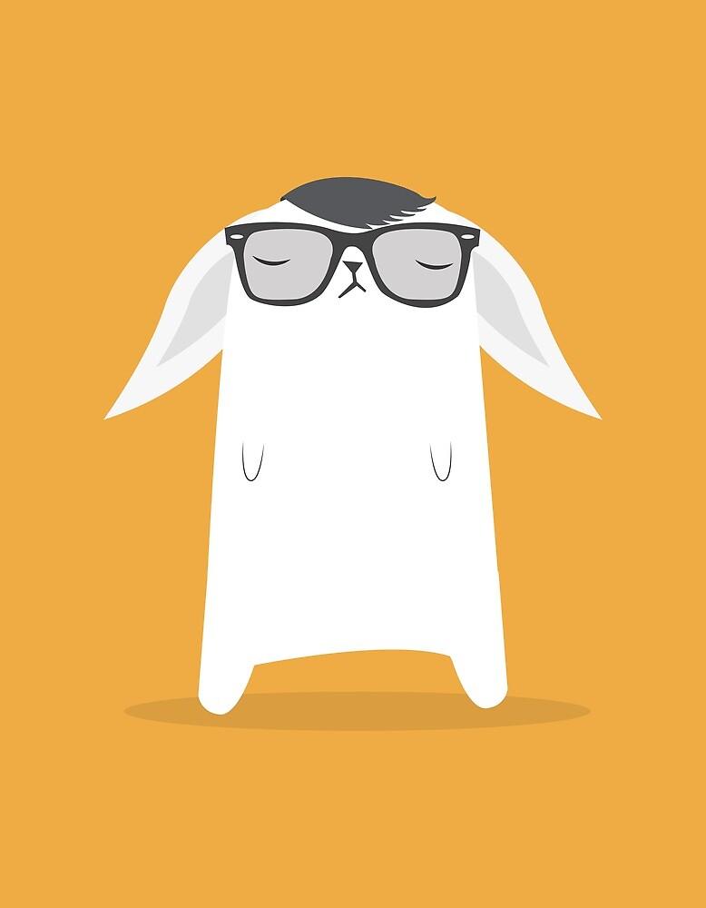 Hipster Bunny by volkandalyan
