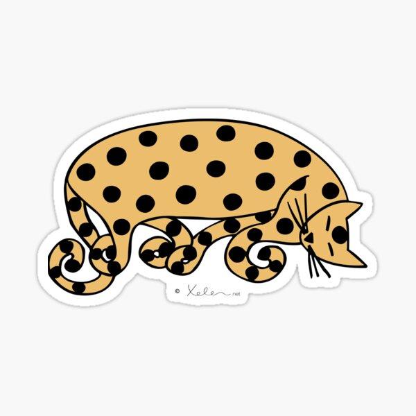 ATOMIC CAT ocher, Xelen.net Sticker