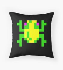 Frogger  Classic Arcade Game 80s Throw Pillow