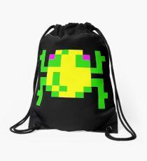 Frogger  Classic Arcade Game 80s Drawstring Bag