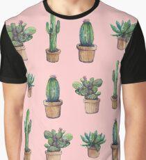 cactus pink Graphic T-Shirt