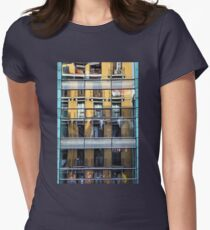 Reflections upon Palacio de Deportes, Madrid. Women's Fitted T-Shirt