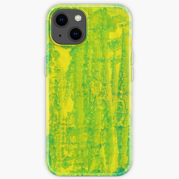 Simple Green and Yellow Texture Print iPhone Soft Case