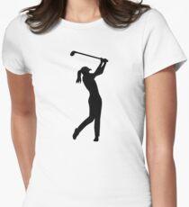 Golf woman girl Women's Fitted T-Shirt