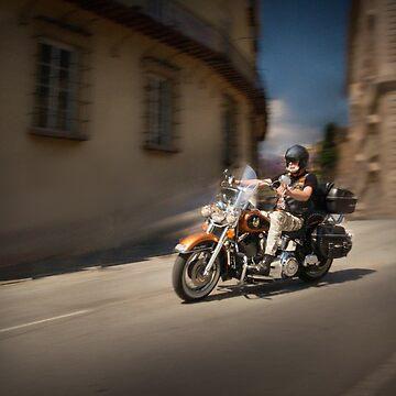 Harley Davidson rider in Malaga by pedroec1