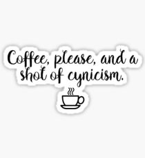 Gilmore Girls - Coffee and Cynicism Sticker
