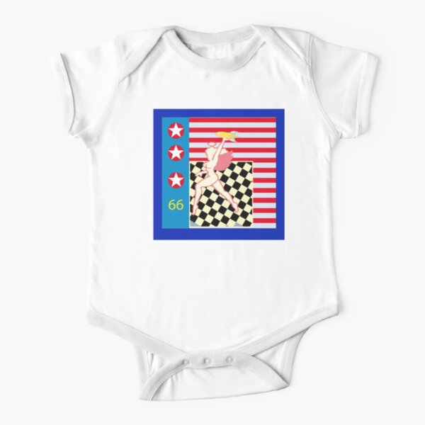 Hell's Angels, bomb and flag Short Sleeve Baby One-Piece