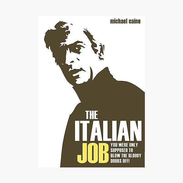 Michael Caine - The Italian Job Photographic Print