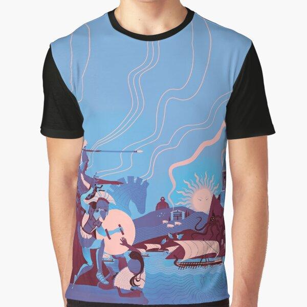 Homeric Landscape - Winter Graphic T-Shirt