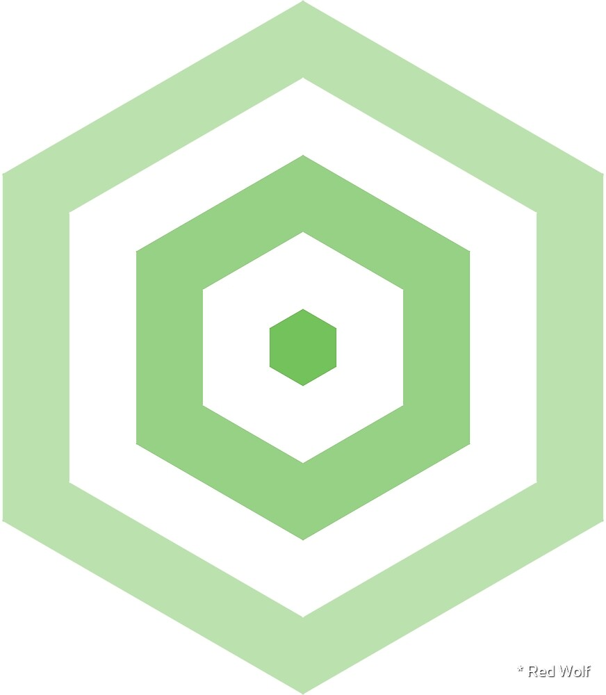 Geometric Pattern: Hexagon Hive: Light Positive: Green by * Red Wolf