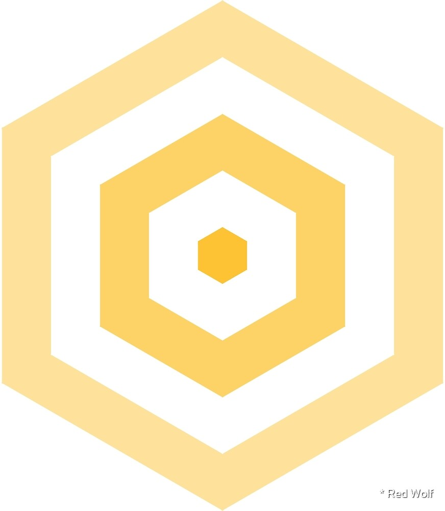 Geometric Pattern: Hexagon Hive: Light Positive: Yellow by * Red Wolf