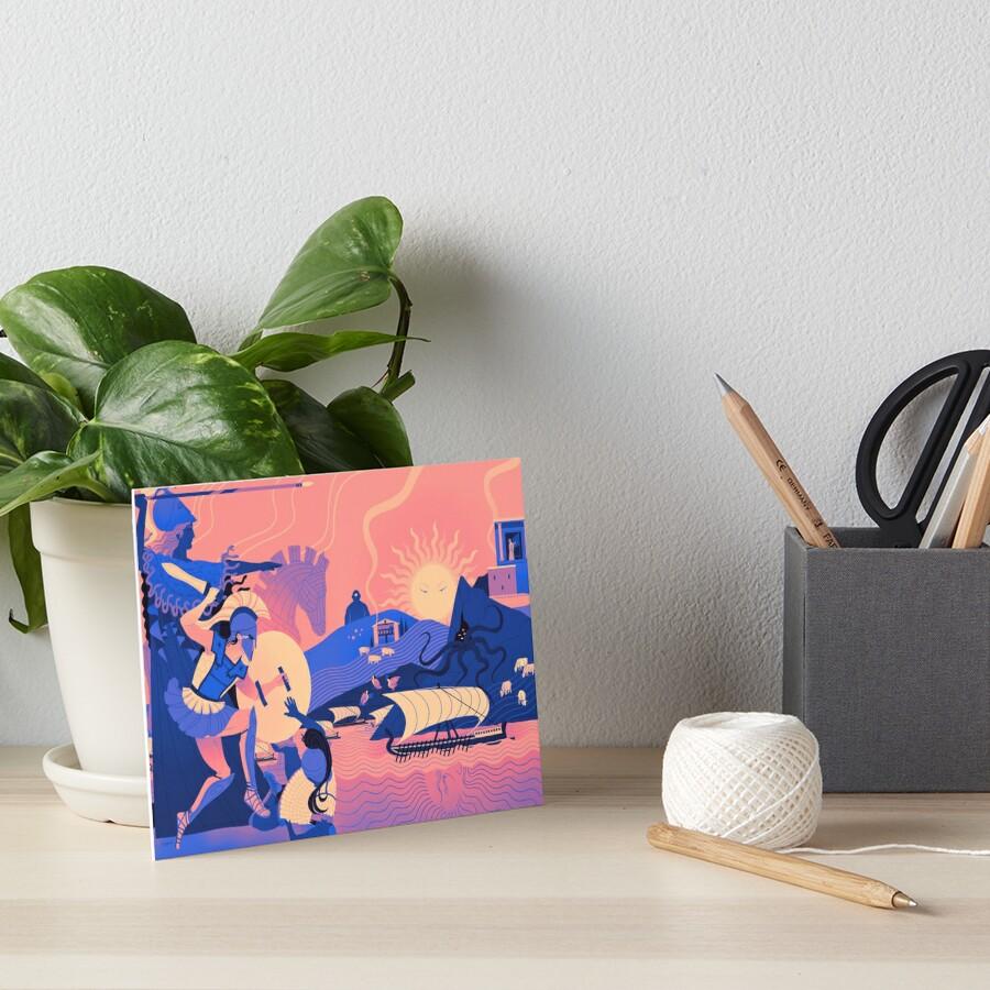 Homeric Landscape - Summer Art Board Print
