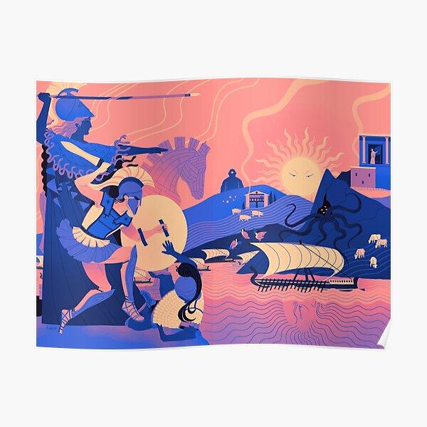 Homeric Landscape - Summer Poster