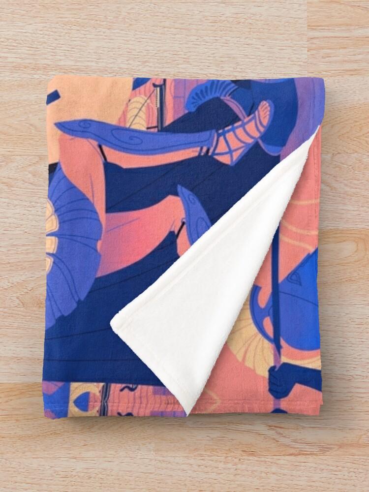 Alternate view of Homeric Landscape - Summer Throw Blanket