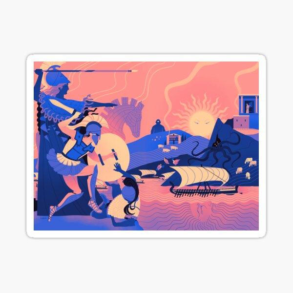 Homeric Landscape - Summer Sticker