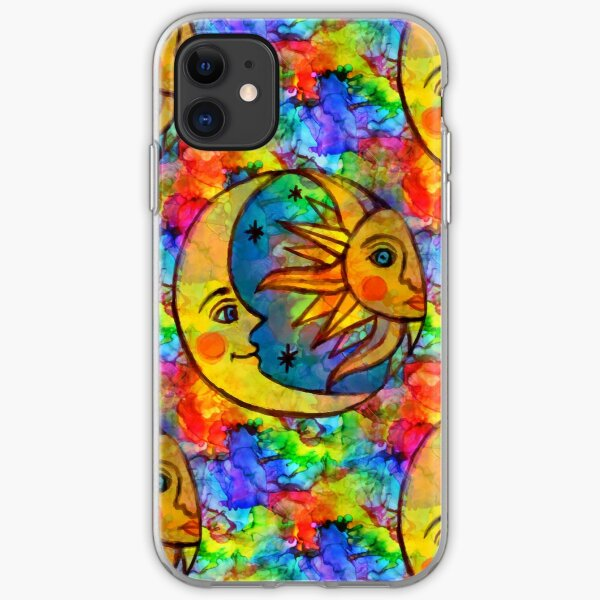 Sun N Moon Hippy Rainbow iPhone Soft Case