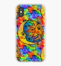 Sun N Moon Hippy Rainbow iPhone Case