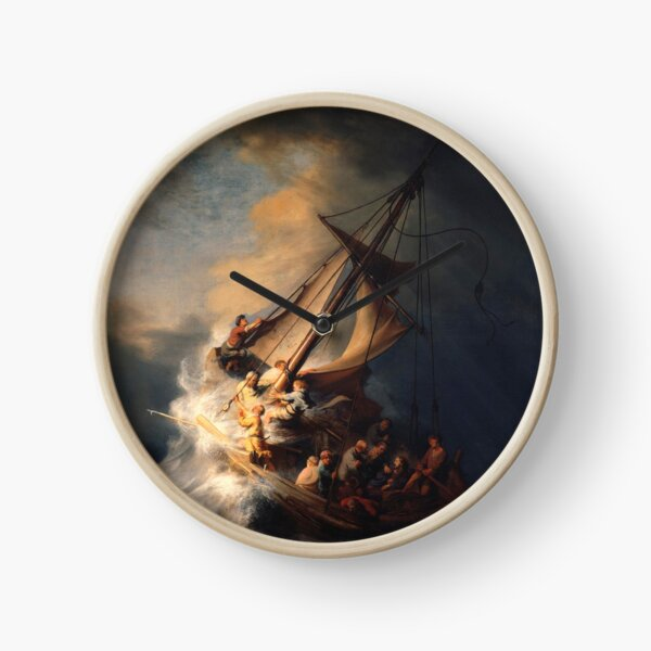 Rembrandt's - The Storm on the Sea of Galilee Clock