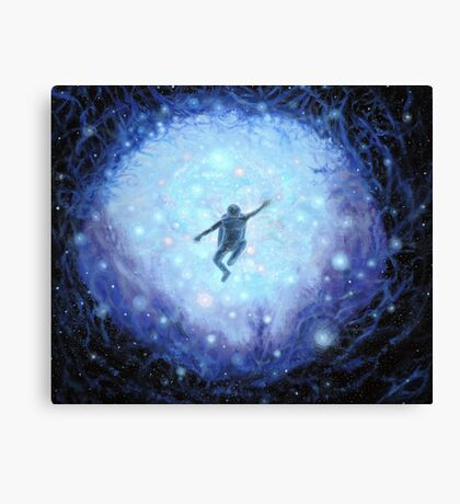 """""""Lost in space"""" Gouache painting Canvas Print"""