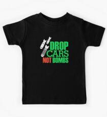 Drop Cars Not Bombs (1) Kids Tee