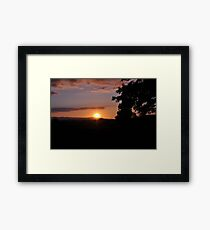 The sun was setting over hills of Tipperary  Framed Print