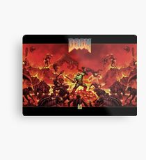 DOOM - Classic Version Metal Print