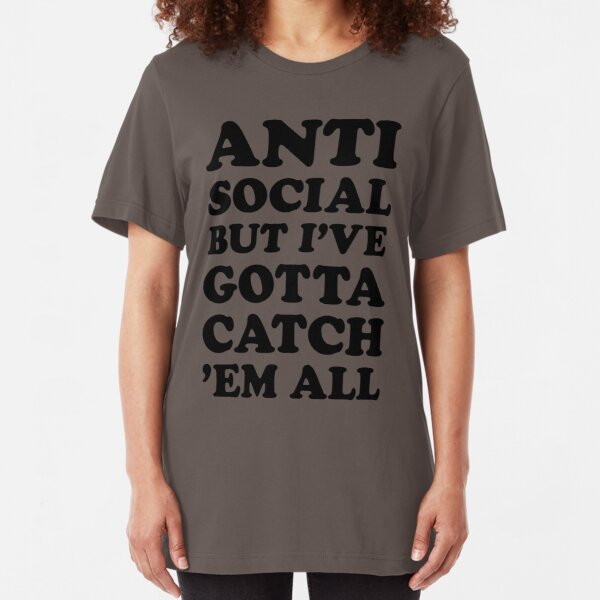 Antisocial Trainer Problems Slim Fit T-Shirt
