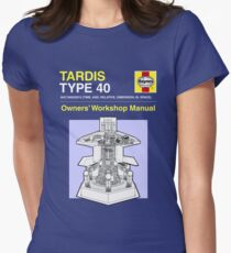 TARDIS - Type 40 - Owners' Manual Womens Fitted T-Shirt