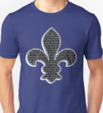Louisiana Fleur De Lis (Louisiana / Cajun wording) Unisex T-Shirt