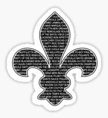 Louisiana Fleur De Lis (Louisiana / Cajun wording) Sticker